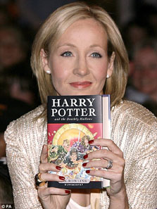JK Rowling - Harry Potter (image borrowed from The Daily Mail)